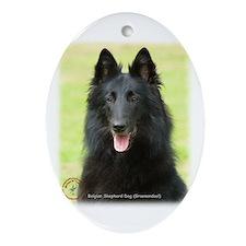 Belgian Shepherd (Groenendael) Oval Ornament