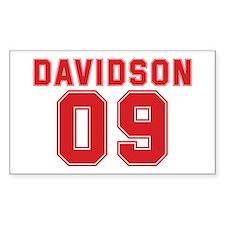 DAVIDSON 09 Rectangle Decal