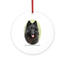 Belgian Shepherd (Groenendael) Ornament (Round)