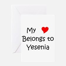 My heart belongs issac Greeting Card