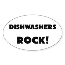 Dishwashers ROCK Oval Decal