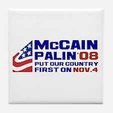 McCain Palin Nov. 4 Tile Coaster