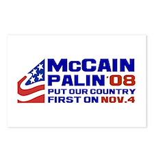 McCain Palin Nov. 4 Postcards (Package of 8)