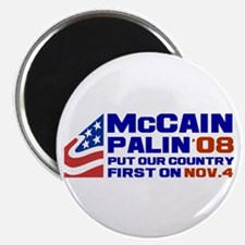 McCain Palin Nov. 4 Magnet