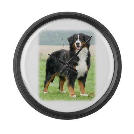 Bernese Mountain Dog 9Y066D-133 Large Wall Clock
