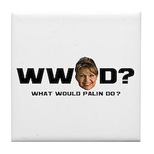 WW Palin D? Tile Coaster