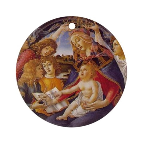 Madonna the Magnificat Christmas Ornament