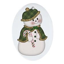 Irish SnowLady Oval Ornament