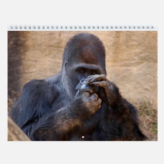 Gorilla 003 Wall Calendar