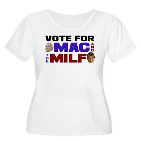 Mac & the MILF Women's Plus Size Scoop Neck T-Shir