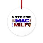 Mac & the MILF Ornament (Round)