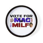Mac & the MILF Wall Clock