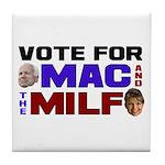 Mac & the MILF Tile Coaster