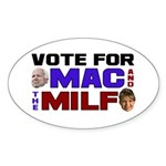 Mac & the MILF Oval Sticker (50 pk)
