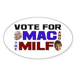 Mac & the MILF Oval Sticker
