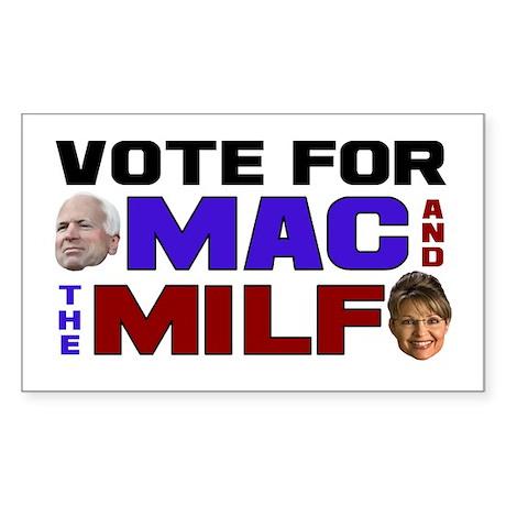 Mac & the MILF Rectangle Sticker