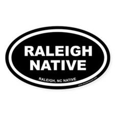 Raleigh, NC Native Oval Decal