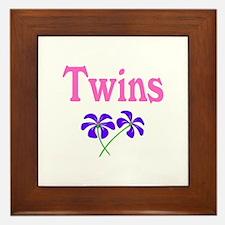 Twins (Flowers) Framed Tile
