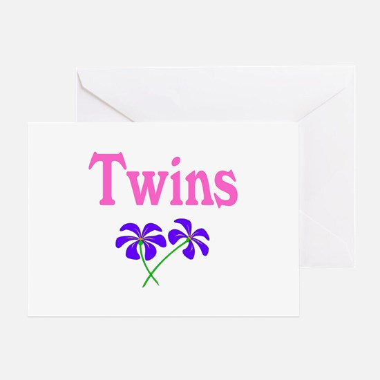 Twins (Flowers) Greeting Card