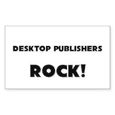 Desktop Publishers ROCK Rectangle Decal