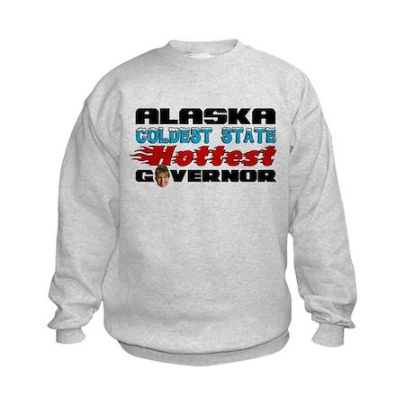 Palin Hottest Governor Kids Sweatshirt