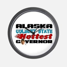 Palin Hottest Governor Wall Clock