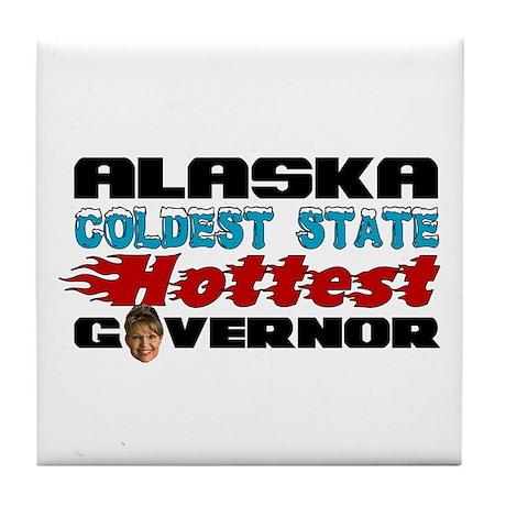Palin Hottest Governor Tile Coaster