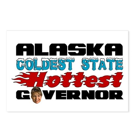 Palin Hottest Governor Postcards (Package of 8)