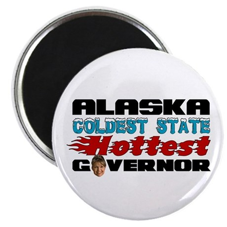 "Palin Hottest Governor 2.25"" Magnet (10 pack)"