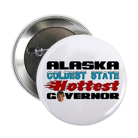 """Palin Hottest Governor 2.25"""" Button"""