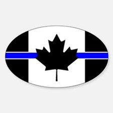 Canadian Police: Thin Blue Line Decal