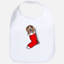 Beagle Christmas Bib