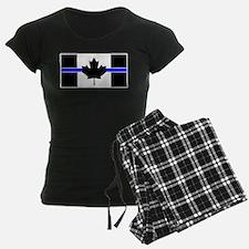 Canadian Police: Thin Blue Line Pajamas