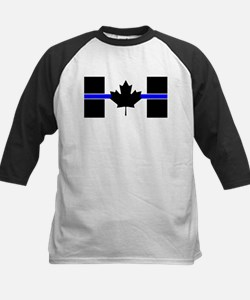Canadian Police: Thin Blue Line Baseball Jersey