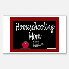 Homeschooling Mom Rectangle Decal