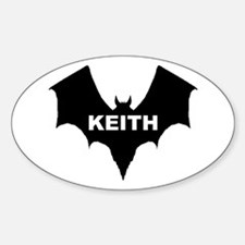 BLACK BAT KEITH Oval Decal