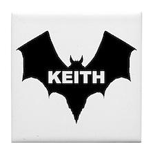 BLACK BAT KEITH Tile Coaster