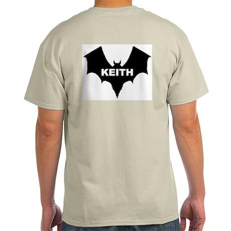 BLACK BAT KEITH Ash Grey T-Shirt
