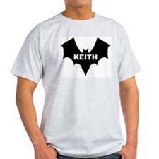 BLACK BAT KEITH Ash Grey T-Shirt