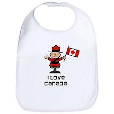 I Love Canada Mountie Bib