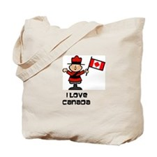 I Love Canada Mountie Tote Bag