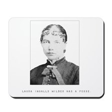 Laura Ingalls Wilder Has a Posse Mousepad