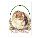 Pomeranian Pom Holiday Postcards (Package of 8)