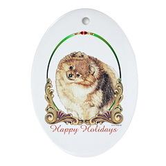 Pomeranian Pom Holiday Keepsake (Oval)