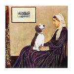 WMom / Beagle (#2) Tile Coaster