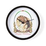 Pomeranian Pom Holiday Wall Clock