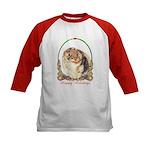Pomeranian Pom Holiday Kids Baseball Jersey