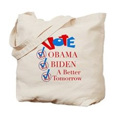 A Better Tomorrow Obama T-Shirt Tote Bag