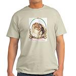 Pomeranian Pom Holiday Ash Grey T-Shirt