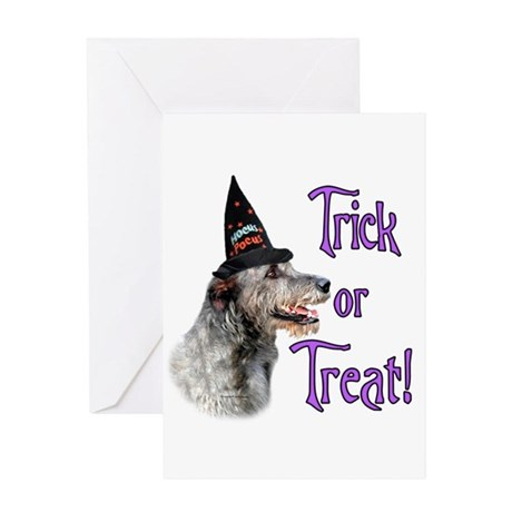 Wolfhound Trick Greeting Card